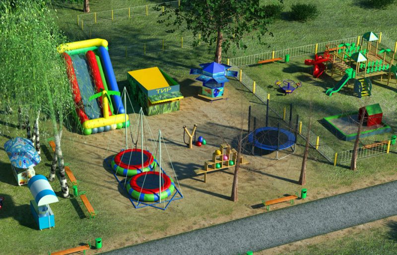 3D modeling playgrounds